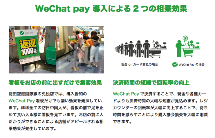WeChatpay導入による2つの相乗効果